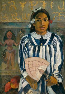 Painting - The Ancestors Of Tehamana by Paul Gauguin