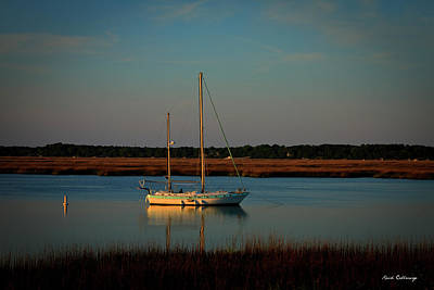 Best Sailing Photograph - The Anchor Holds 2 Beaufort South Carolina Sailboat Art  by Reid Callaway