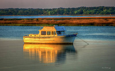 Best Sailing Photograph - The Anchor Holds Beaufort South Carolina Boat Art by Reid Callaway