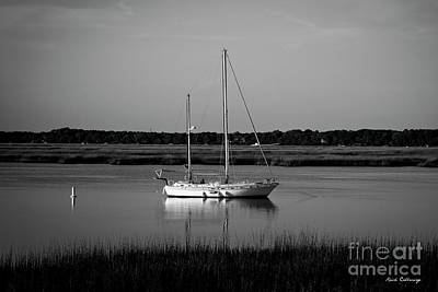 The Anchor Still Holds Beaufort South Carolina Sailboat Art  Art Print by Reid Callaway