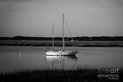 Best Sailing Photograph - The Anchor Still Holds Beaufort South Carolina Sailboat Art  by Reid Callaway
