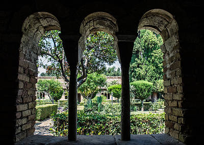 The Ancient Cloister Art Print by Andrea Mazzocchetti