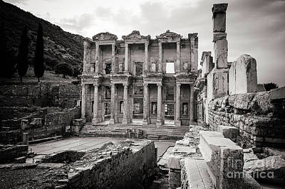 Library Of Celsus Photograph - The Ancient Library by Mirko Chianucci