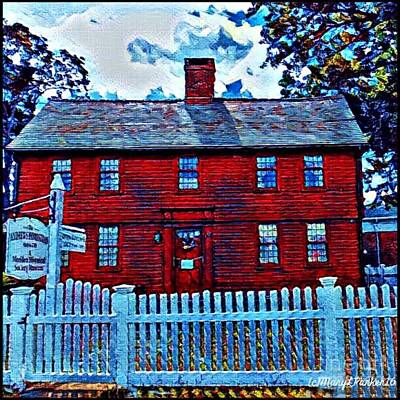 White House Mixed Media -  The Andrew Homestead Meriden,ct by MaryLee Parker