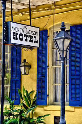 French Quarter Digital Art - The Andrew Jackson Hotel - New Orleans by Bill Cannon