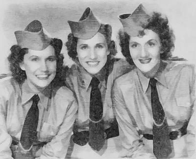 Elvis Presley Drawing - The Andrews Sisters by John Springfield