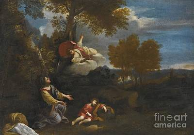Night Angel Painting - The Angel Appearing To Hagar by MotionAge Designs
