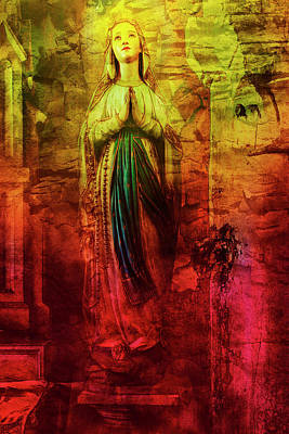 Mother Mary Digital Art - The Angel Behind Mother Mary by 2bhappy4ever