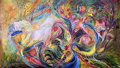 The Angel Of Flowers Art Print by Elena Kotliarker
