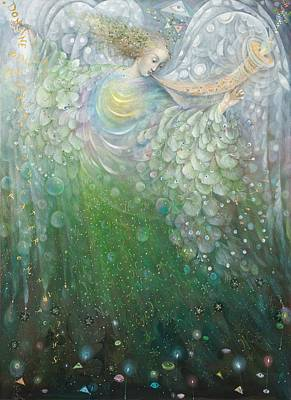 Fairy Painting - The Angel Of Growth by Annael Anelia Pavlova
