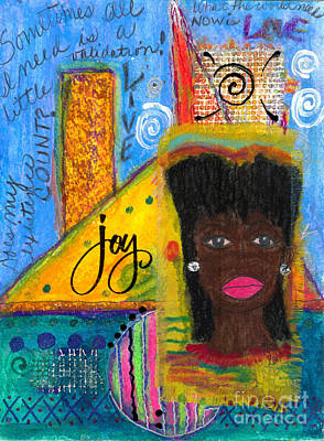 Mixed Media - The Angel Of Happy Thoughts by Angela L Walker