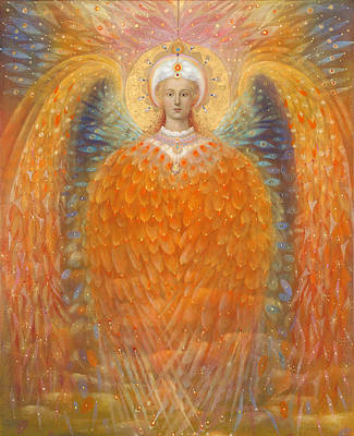 Guardian Angel Painting - The Angel Of Justice by Annael Anelia Pavlova