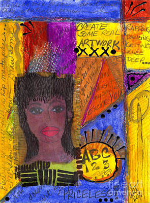 Mixed Media - The Angel Of Lifelong Learning by Angela L Walker