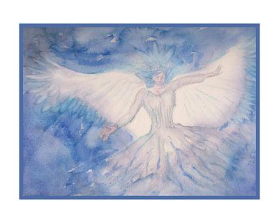 The Angel Of Light Art Print by Rod Hillen