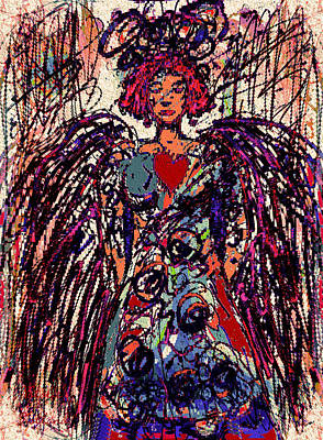 Mixed Media - The Angel Of Love by Natalie Holland