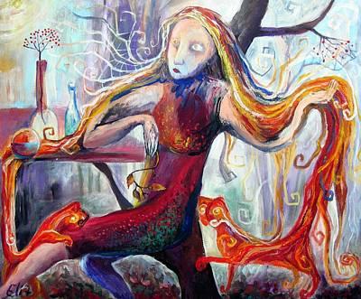 The Angel Of October Art Print by Elisheva Nesis