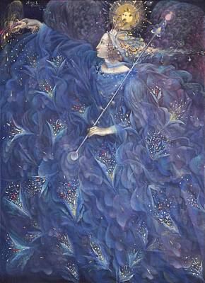Fairy Drawing - The Angel Of Power by Annael Anelia Pavlova