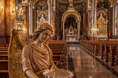 Holy Water Angel Photograph - The Angel Of St. Josaphat's by Lindley Johnson