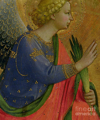 Frond Painting - The Angel Of The Annunciation by Fra Angelico