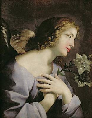 The Angel Of The Annunciation Art Print by Giovanni Francesco Romanelli