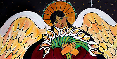 Painting - The Angel Of The Resurrection by Jan Oliver-Schultz