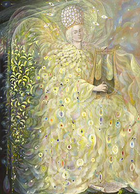 Harp Painting - The Angel Of Wisdom by Annael Anelia Pavlova