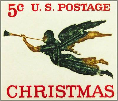 The Angel Weathervane Stamp Art Print by Lanjee Chee