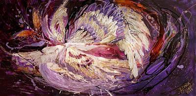 The Angel Wings #8 The Dance Of Spirit Art Print by Elena Kotliarker