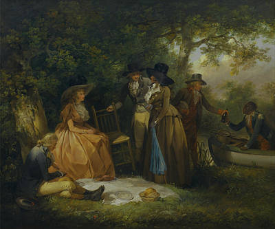 Negro Painting - The Anglers Repast by Mountain Dreams