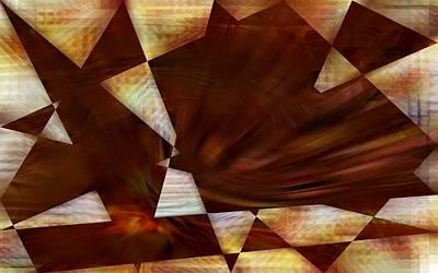 Digital Art - The Angular Bird - Abstract by rd Erickson