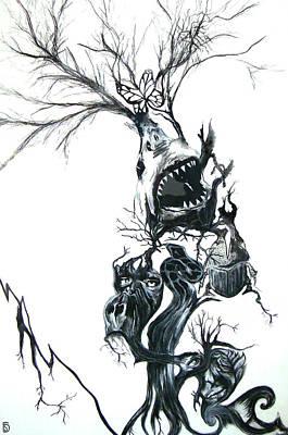 The Animal Tree Art Print