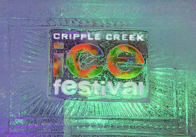 Photograph - The Annual Ice Sculpting Festival In The Colorado Rockies, Cripple Creek Cyan by Bijan Pirnia