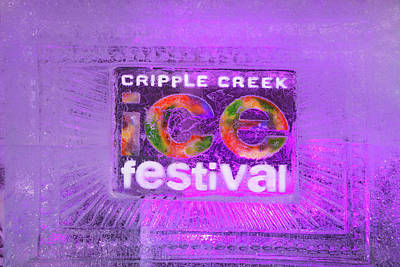 Photograph - The Annual Ice Sculpting Festival In The Colorado Rockies, Cripple Creek Magenta by Bijan Pirnia