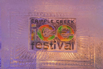 Photograph - The Annual Ice Sculpting Festival In The Colorado Rockies, Cripple Creek Yellow by Bijan Pirnia