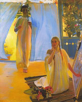 Religious Artist Painting - The Annunciation by Mountain Dreams