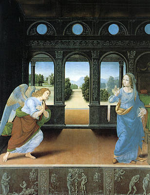 Religious Art Painting - The Annunciation By Di Credi by Lorenzo Di Credi