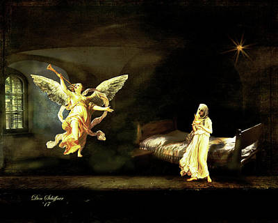 Digital Art - The Annunciation by Don Schiffner