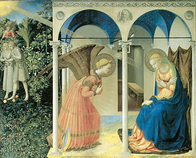 Religious Art Painting - The Annunciation by Fra Angelico  Guido Di Pietro