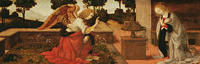 Gabriel The Angel Painting - The Annunciation by Lorenzo di Credi