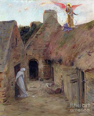 Doorway Painting - The Annunciation by Luc Oliver Merson