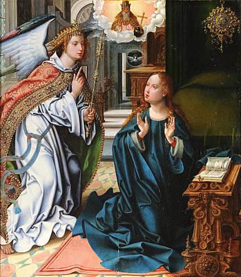 Pieter Coecke Van Aelst Painting - The Annunciation by Pieter Coecke van Aelst