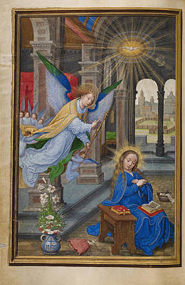 Catholic For Sale Painting - The Annunciation by Simon Bening