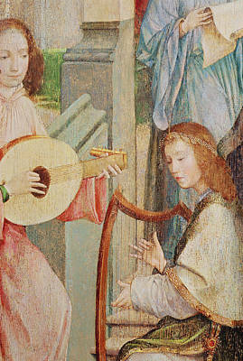 Guitar Angels Painting - The Annunciation by Taborda Vlame Frey Carlos