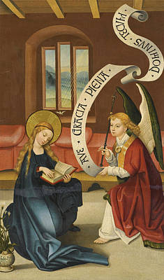 Painting - The Annunciation To The Virgin by Ludwig Schongauer