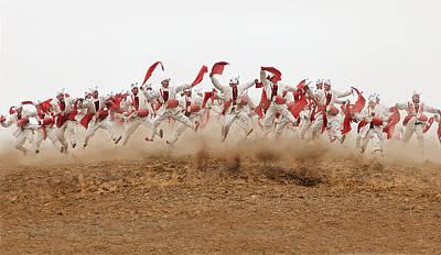 China Wall Art - Photograph - The Ansai Waist Drum Dance by Bj Yang