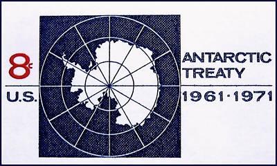 The Antarctic Treaty Stamp Art Print