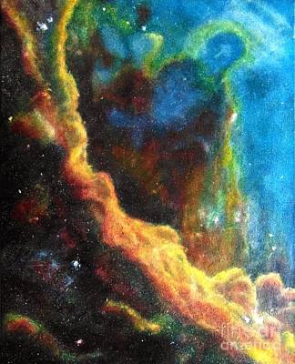 Swan Nebula Painting -  The Anthropic Priciple  by Kay Zanger