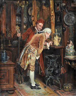 Painting - The Antique Connoisseur by Francois-Adolphe Grison