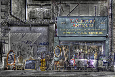 Pearse Street Photograph - The Antique Shop by Janet Meehan