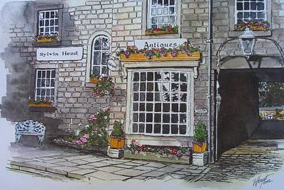 The Antique Shop Art Print by Victoria Heryet